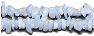 Long Strand 240+ Blue Lace Agate 5-8mm Chip Handcut Beads GS3163 (Charming Beads)