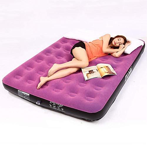 ZHAOJCQC Doppelte Aufblasbare Bett Faul Aufblasbare Sessel Innenklapp Multifunktions Outdoor Tragbare Verdickte Luftbett Mit Luftpumpe (Farbe : Purple)