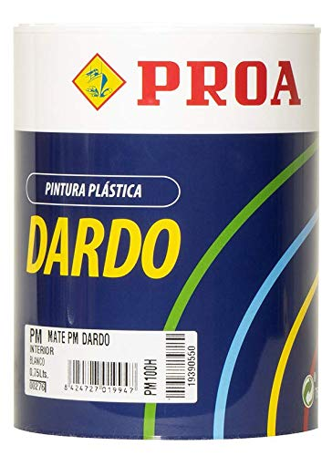 PINTURA PLASTICA DARDO BLANCO INTERIOR MATE 750ML