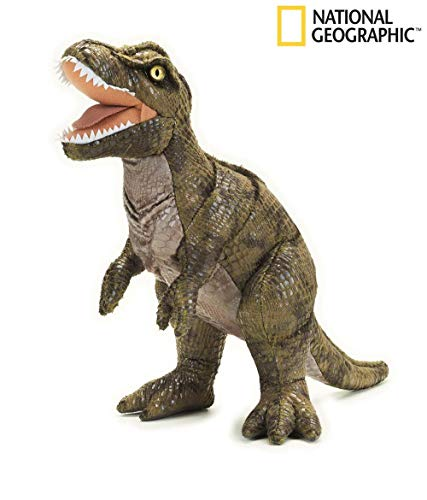 Venturelli- National Geographic-T-Rex Peluche, Colore Verde, 8004332707790