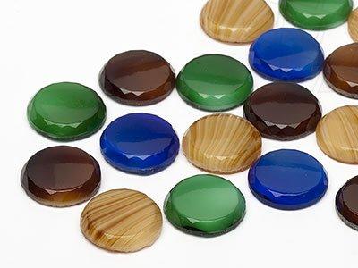 OPTIMA Pierres de gemme de circularie 14mm (Nature Mix), 30 Pièces