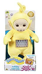 Laa-Laa is a loveable soft toy to ease your child to sleep! You can set how long she is on for using the built-in switch for 5, 10, or 15 minutes She has a night-light only feature which slowly fades away Laa-Laa plays music and beams a soft light sh...