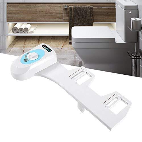Weiß Smart-Bidet Dusch-WC Warmwasserbidet Bildet-Aufsatz WC Sitz mit Eins/Zwei/Drei Buttons (Eins Button)