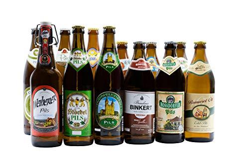Bierwohl I Geschenkidee I Das Blonde I Bierset mit diversen Pilsener aus Franken I 12x 0,5l