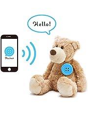 Pechat(ペチャット) ブルー ぬいぐるみをおしゃべりにするボタン型スピーカー【英語にも対応】 P03