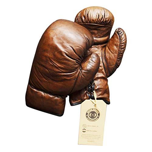 Retro Reborn Boxhandschuhe, Leder, 340 g, Dunkelbraun