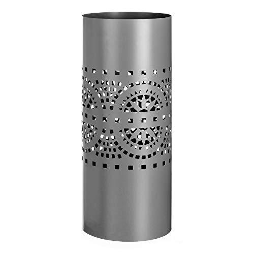 Paragüero de diseño Moderno Gris de Metal para la Entrada Arabia - LOLAhome