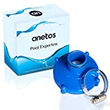 anetos - Adaptador para aspirador de piscinas Intex (80 mm a 32 mm) para manguera de aspiración con abrazadera de acero inoxidable - Adaptador para aspirador Intex y Bestway (80 mm a 32 mm)