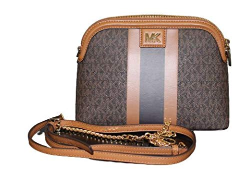 MICHAEL Michael Kors Mott Large Zip Dome Crossbody (brown acorn)