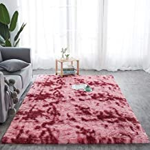 Rug - New Tie-dyed Fluffy Carpet Soft Shaggy Area Rug Plush Fur Carpets Home Decor Living Room Bedroom Cover for Seat Car ...