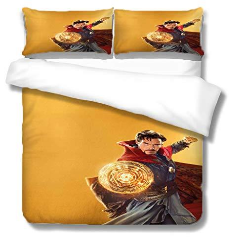 NBAOBAO Avengers Doctor Strange, set di biancheria da letto grande super eroi, traspirante e morbido (Doctor Strange2, Double200 x 200 cm)