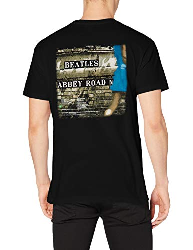 The Beatles Abbey Road Men's Short Sleeve Shirt Gr. XL, Schwarz - Schwarz