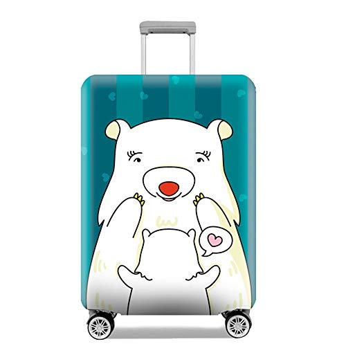 Luggage Cover Cute Animal Elastic Wear Waterproof Suitcase Cover Protector for 18-32 Inch XL Code 29-32 Inch Baby Bear