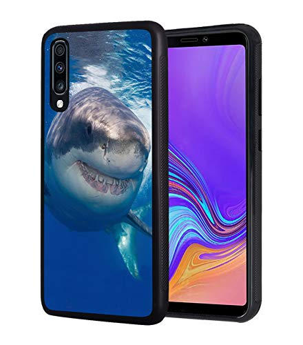 Galaxy A20 Case, Galaxy A30 Case, Slim Anti-Scratch TPU Rubber Protective Case Cover for Samsung Galaxy A20 (2019) / A30 (2019) - Great White Shark
