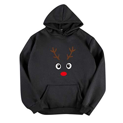 BIKETAFUWY Sudadera de Navidad para mujer, de gran tamaño, con capucha, para otoño e invierno, A41, L