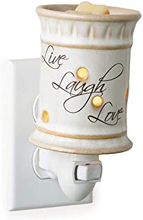 CANDLE WARMERS ETC. Pluggable Fragrance Warmer, Live, Laugh, Love