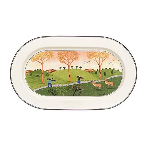 Villeroy & Boch 10-2337-2910 Plat Porcelaine Vert 35,7 x 24,2 x 4,4 cm 1 plat ovale