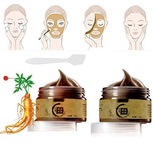 CHERITY Mascarilla de Belleza Herbal Refining Beauty, Removedor de Espinillas de Limpieza Facial, Limpiador de Poros de Máscara Cepillada, Limpieza Profunda Poros de Piel Muerta (2 pcs)