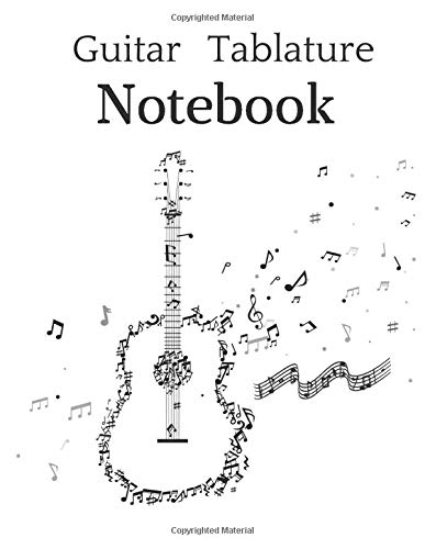 Guitar Tablature Notebook: 110 Pages | Guitar Chord Diagrams and Tablature Staff Music Paper