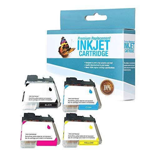 SuppliesOutlet Compatible Ink Cartridge Replacement for Brother LC61 / LC61BK / LC61C / LC61M / LC61Y (C,M,Y,K,4 Pack)