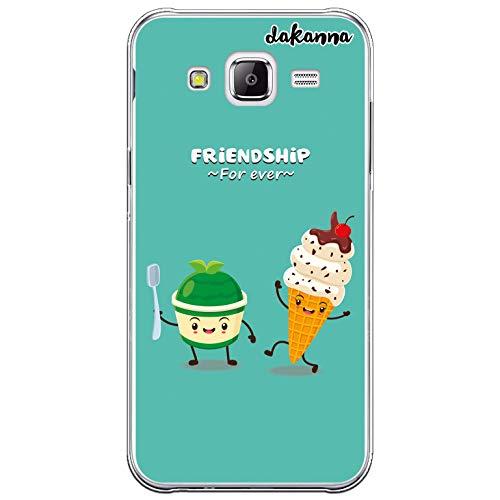 dakanna Custodia Compatibili con [Samsung Galaxy J5] Trasparente con Disegni [Amicizia del Gelato, Friends Forever] in Morbida Silicone TPU Flessibile, Shell Case Cover in Gel per Smartphone