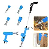 Electric Weed Burner Hot Air Weed Torches Garden Gear Weed Burner Up to 650℃ Strong Weed Tool Thermal Weeding Stick for Small Weed Crevice Grass