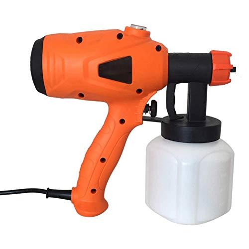 WQSFD Pistola a Spruzzo Elettrica 800Ml Ad Alta capacità Regolabile Valvola Manopola 3 modalità Pittura HVLP Spruzzatore Elettrica,per Vari Progetti Pittura (Colore: Arancione)