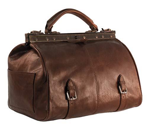 BZNA BZNA Firenze Bag Vincenzo braun Weekender Herren Reisetasche Business Bag vegetable tanned Italy Designer Damen Handtasche Ledertasche Schultertasche Tasche Leder