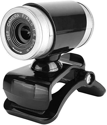 REUUY Webcam mit Mikrofon, 1080P HD Webcam Streaming Computer Webkamera – USB Computer Kamera Clip auf 360 Grad drehbar für PC Laptop Desktop