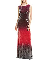 Pnk and Black Sleeveless Sequin Long Gown