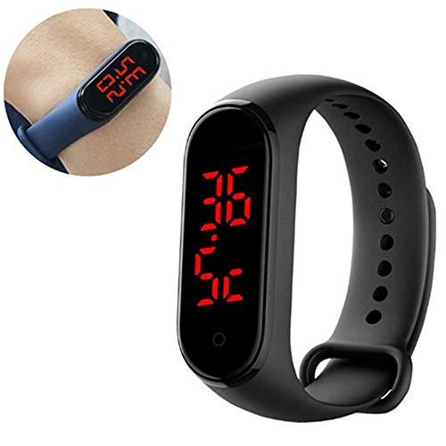 QiQizhang Connected Uhr Thermometer Mit Bügeln, Wasserdicht Verbunden Band Mit Sportband, LED-Touch-Screen-Zeit Und Temperaturanzeige, Low-Power-Prozessor