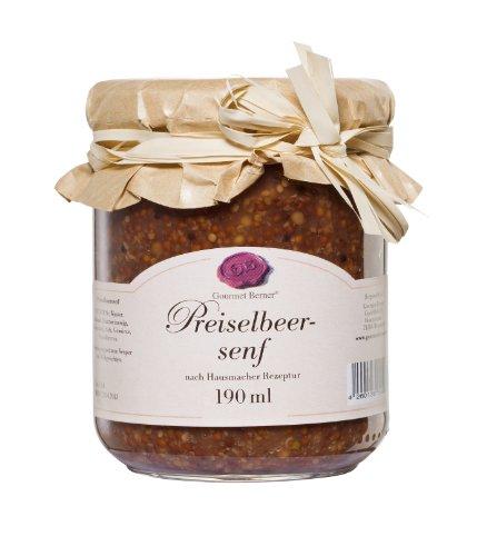 Berners Feinkost Delikatessen Preiselbeersenf -190 ml