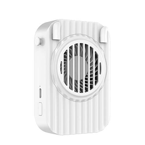 Ventilador Portátil del Cuello, Manos Libres OPERADAS Ultra SILLAD, Ventilador USB 360 ° Ajustable Alta Flexibilidad Ventilador Personal,Blanco