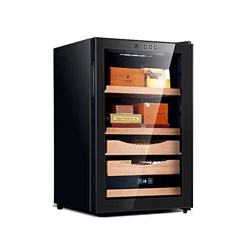 JKCKHA Ajuste de la Caja humidor cámara de Humedad controlada Temperatura de Control electrónico de Humedad Raza Especial (Color: Negro, Tamaño: 46x54x73.5cm)
