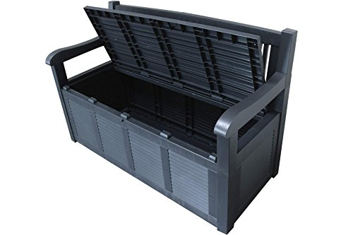 Gartenbank 2-Sitzer Aufbewahrung Kissenbox Gartenmöbel 130x60x85 cm - 4