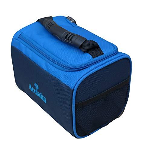 Acclaim Ripon Bowling-Tasche mit 2 Böden, robust, gepolstert, flach, Grün, Marineblau, Himmelblau