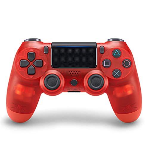TANGZH Controller per PS4, Controller Joystick Gamepad Wireless per PS4, Gamepad Touch Panel Doppio Vibrazion A Sei-Assi Joystick, Touchpad Luce LED, per PS4 / PRO/Slim