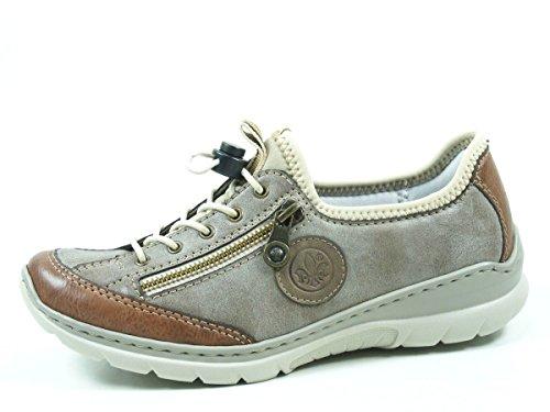 Rieker Damen L3269 Slip On Sneaker, Braun (Brandy/Cigar/Fango/Beige 24), 40 EU