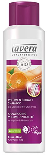 lavera Vegan Shampoo für Volumen und Vitalität, natürliche Kosmetik – pflanzliche Inhaltsstoffe – 100% natürliches Naturprodukt