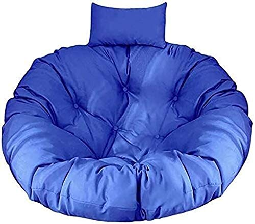 ldl Patio Chair Cushion Hanging Swings Chair Pads Egg Seat Thick Cushions for Indoor Outdoor (Color : Peacock Blue)