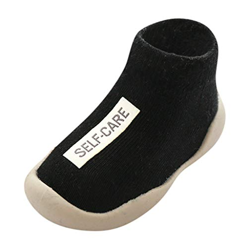 LEXUPE Abstand Unisex-Kinder LED Sneakers Mode Blinkschuhe Low-Top Casual Outdoor Sneakers Laufschuhe Sportschuhe Hallenschuhe für Jungen und Mädchen Größe 21-30(Schwarz,23)