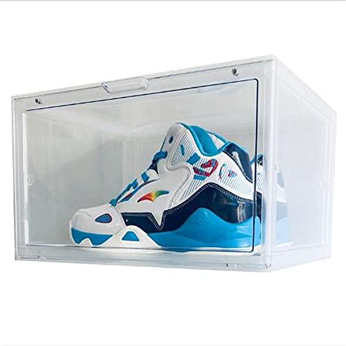 Caja de Zapatos Transparente con Puerta magnética a Prueba de Polvo, Caja de Zapatos apilable