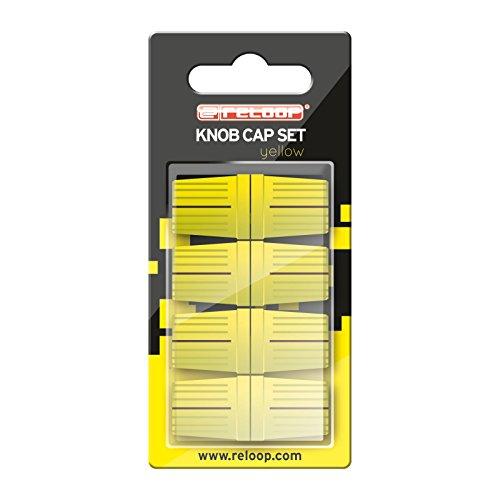 Reloop Knob Cap Set yellow - 8 Knob Caps, Gummierung für mehr Grip, kompatibel mit vielen DJ-Mixern und Controllern, gelb