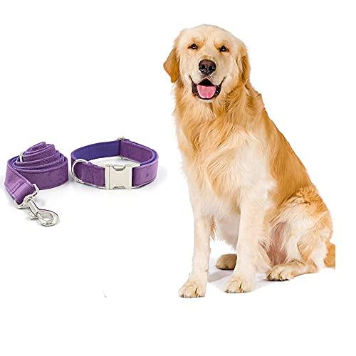 NIUBICLAS Conjunto de collar y correa para perro, collar de perro con correa ajustable, collar y correa para perros pequeños, medianos y grandes