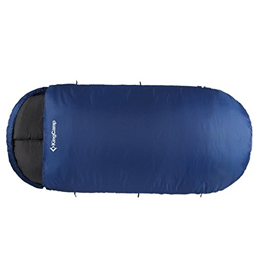 KingCamp - Sac de Couchage Free Space 250-220 * 110cm - Saison-idéal du Printemps à l'hiver - Contre Le Vent, Imperméable - Compact et Portable en Forme d'Enveloppe - KS3168 (Bleu, 220 * 110cm)