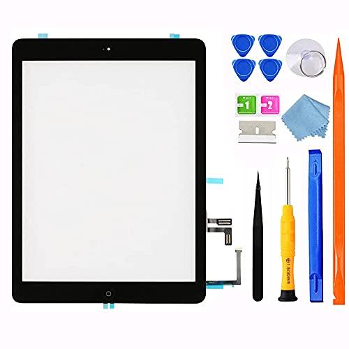 GoodFixer Digitizer für iPad Air 1 Ersatz Bildschirm A1474 A1475 A1476, 9.7 Inch Touchscreen Display mit Home-Button, Ersatzbildschirm Komplettes Werkzeug