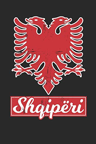 Albania Shqiperi: Dot matrix notebook for the journal or diary for women and men