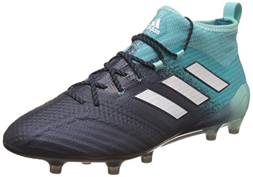 Adidas Ace 17.1 FG, Zapatillas Deportivas para Interior Hombre, Multicolor (Multicolour Black/Green), 40 EU