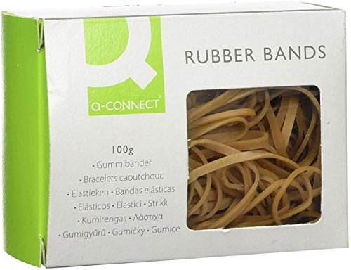 Q Connect Assorted Rubber Bands, 100 g
