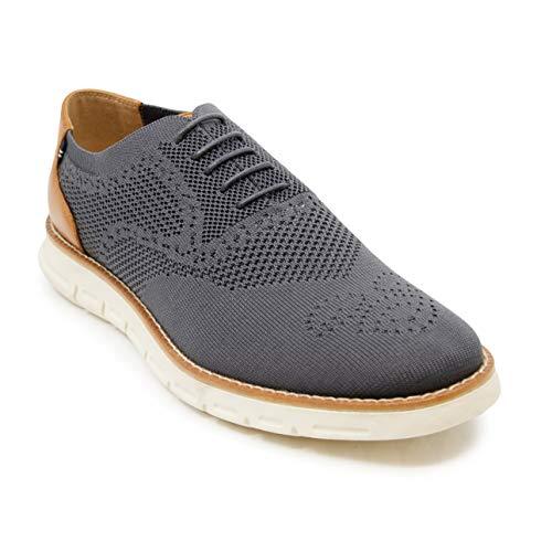 Nautica Men's Knit Oxford Shoe Fashion Sneaker-Wrenwood Knit-Grey Knit-10.5